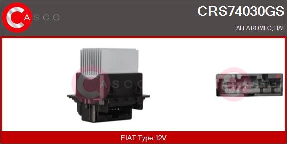 Resistance moteur de ventilateur de chauffage CASCO CRS74030GS (X1)