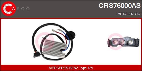 Resistance moteur de ventilateur de chauffage CASCO CRS76000AS (X1)