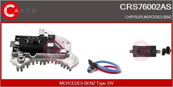 Resistance moteur de ventilateur de chauffage CASCO CRS76002AS (X1)