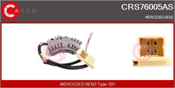 Resistance moteur de ventilateur de chauffage CASCO CRS76005AS (X1)