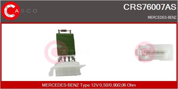 Resistance moteur de ventilateur de chauffage CASCO CRS76007AS (X1)