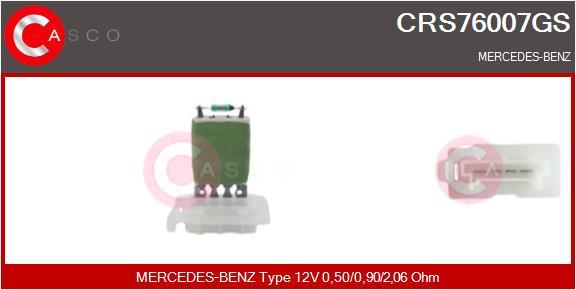 Resistance moteur de ventilateur de chauffage CASCO CRS76007GS (X1)