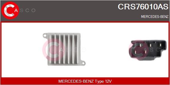 Resistance moteur de ventilateur de chauffage CASCO CRS76010AS (X1)