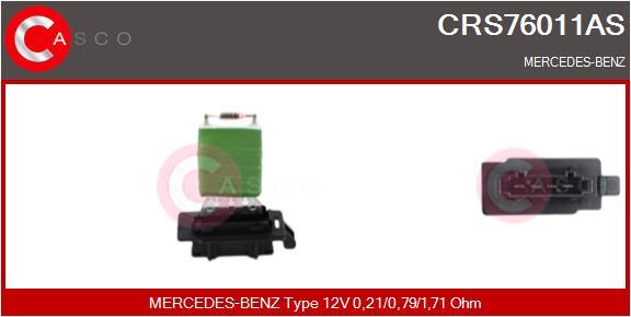 Resistance moteur de ventilateur de chauffage CASCO CRS76011AS (X1)