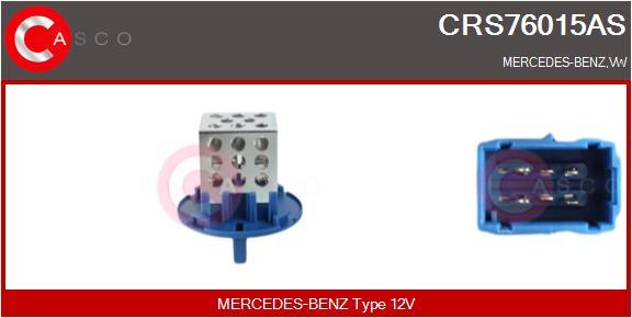 Resistance moteur de ventilateur de chauffage CASCO CRS76015AS (X1)