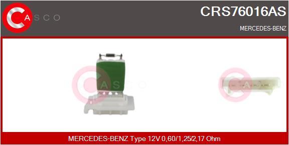 Resistance moteur de ventilateur de chauffage CASCO CRS76016AS (X1)