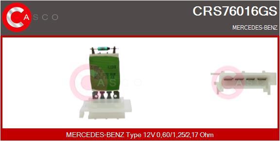 Resistance moteur de ventilateur de chauffage CASCO CRS76016GS (X1)