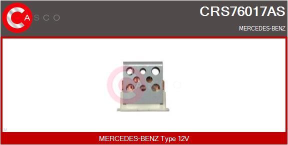 Resistance moteur de ventilateur de chauffage CASCO CRS76017AS (X1)