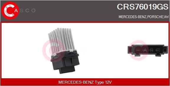 Resistance moteur de ventilateur de chauffage CASCO CRS76019GS (X1)