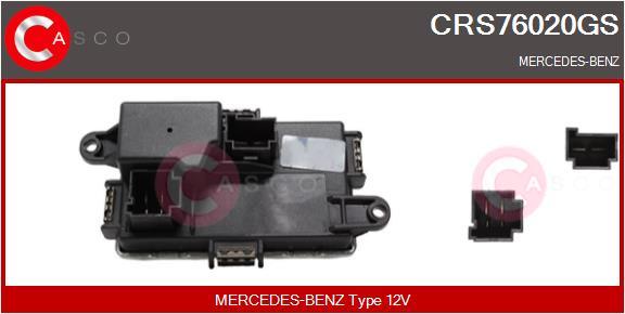 Resistance moteur de ventilateur de chauffage CASCO CRS76020GS (X1)