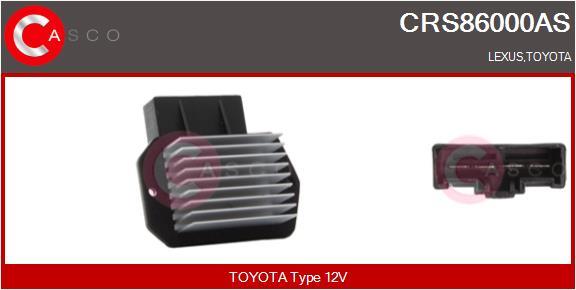 Resistance moteur de ventilateur de chauffage CASCO CRS86000AS (X1)