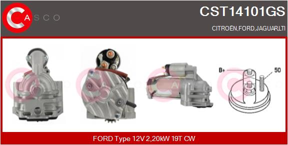 Demarreur CASCO CST14101GS (X1)