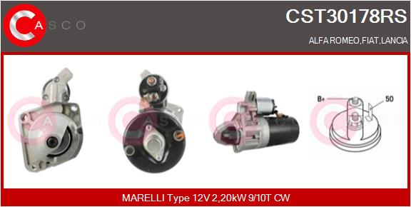 Demarreur CASCO CST30178RS (X1)