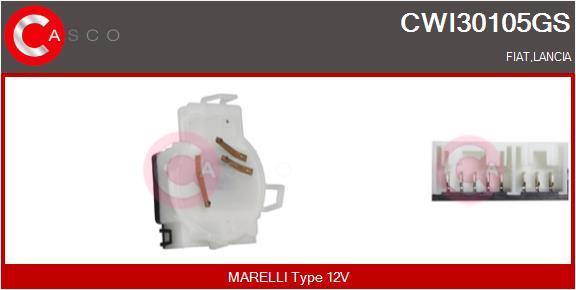 Régulateur, intervalle d'essuyage CASCO CWI30105GS (X1)
