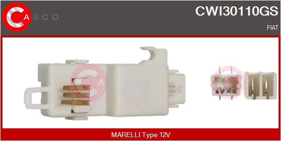 Régulateur, intervalle d'essuyage CASCO CWI30110GS (X1)