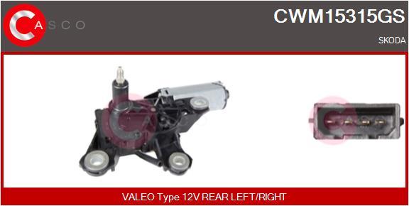 Moteur essuie glace CASCO CWM15315GS (X1)