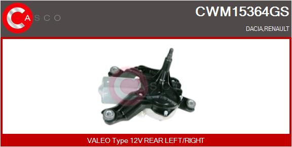 Moteur essuie glace CASCO CWM15364GS (X1)
