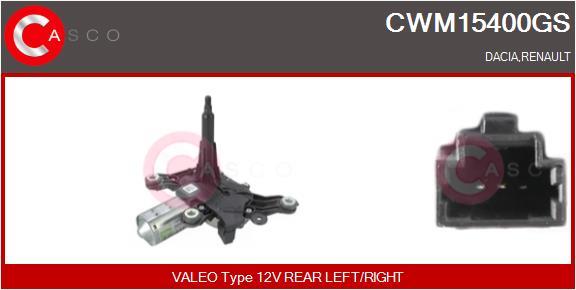 Moteur essuie glace CASCO CWM15400GS (X1)