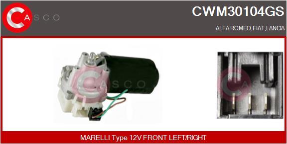 Moteur essuie glace CASCO CWM30104GS (X1)
