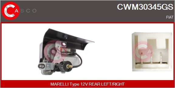 Moteur essuie glace CASCO CWM30345GS (X1)
