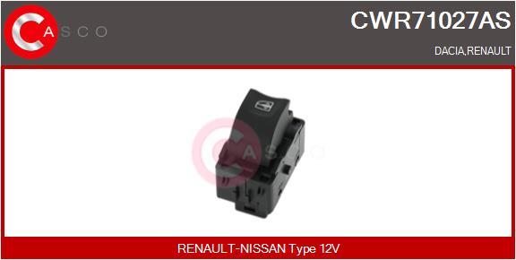 Interrupteur, leve-vitre CASCO CWR71027AS (X1)