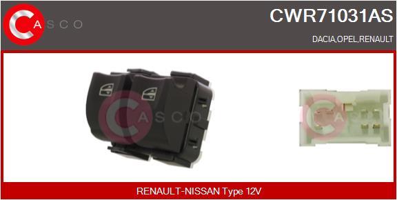 Interrupteur, leve-vitre CASCO CWR71031AS (X1)