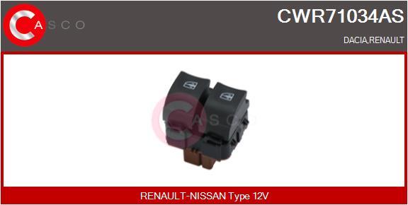 Interrupteur, leve-vitre CASCO CWR71034AS (X1)