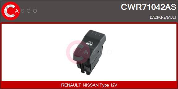 Interrupteur, leve-vitre CASCO CWR71042AS (X1)