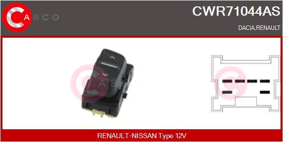 Interrupteur, leve-vitre CASCO CWR71044AS (X1)