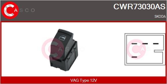 Interrupteur, leve-vitre CASCO CWR73030AS (X1)