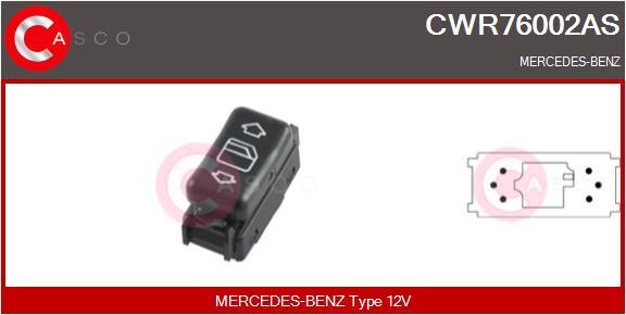 Interrupteur, leve-vitre CASCO CWR76002AS (X1)
