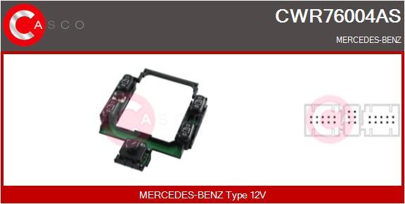 Interrupteur, leve-vitre CASCO CWR76004AS (X1)