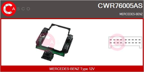 Interrupteur, leve-vitre CASCO CWR76005AS (X1)