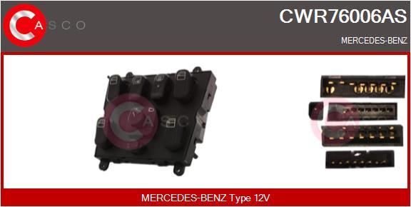 Interrupteur, leve-vitre CASCO CWR76006AS (X1)