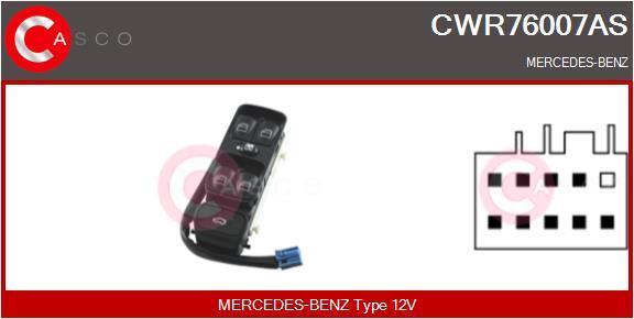 Interrupteur, leve-vitre CASCO CWR76007AS (X1)