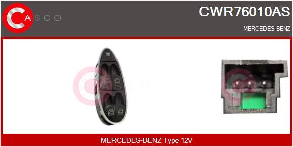 Interrupteur, leve-vitre CASCO CWR76010AS (X1)