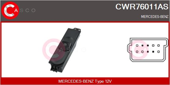 Interrupteur, leve-vitre CASCO CWR76011AS (X1)
