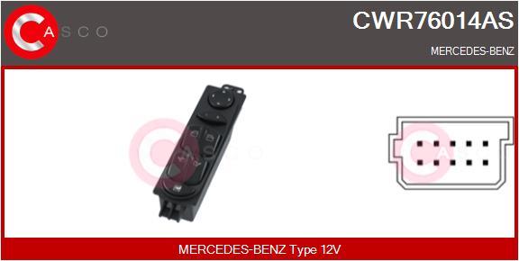 Interrupteur, leve-vitre CASCO CWR76014AS (X1)