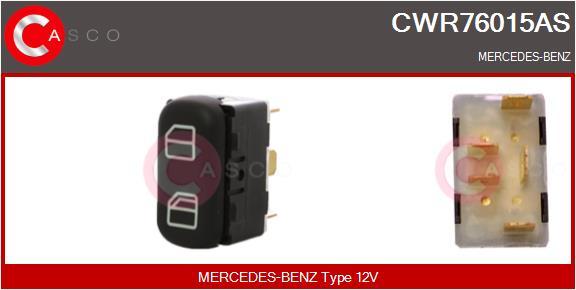 Interrupteur, leve-vitre CASCO CWR76015AS (X1)