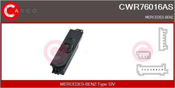 Interrupteur, leve-vitre CASCO CWR76016AS (X1)