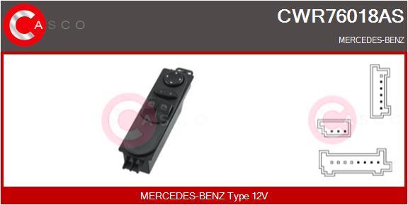Interrupteur, leve-vitre CASCO CWR76018AS (X1)