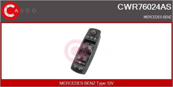 Interrupteur, leve-vitre CASCO CWR76024AS (X1)