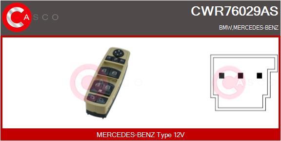 Interrupteur, leve-vitre CASCO CWR76029AS (X1)