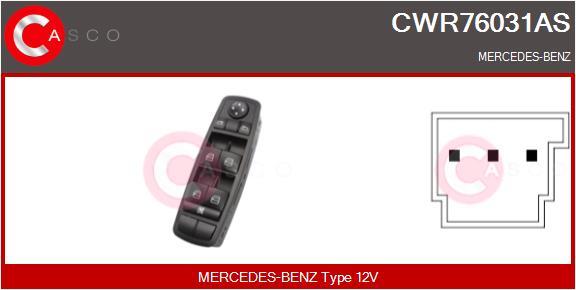 Interrupteur, leve-vitre CASCO CWR76031AS (X1)