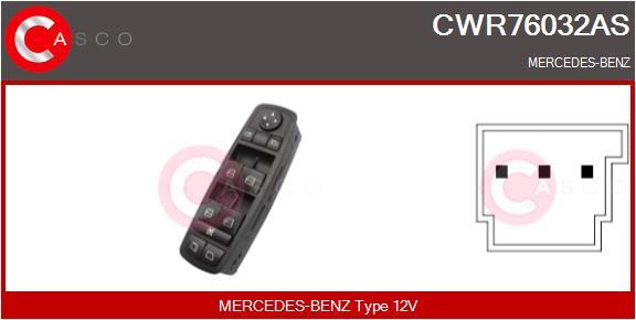 Interrupteur, leve-vitre CASCO CWR76032AS (X1)