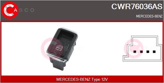 Interrupteur, leve-vitre CASCO CWR76036AS (X1)
