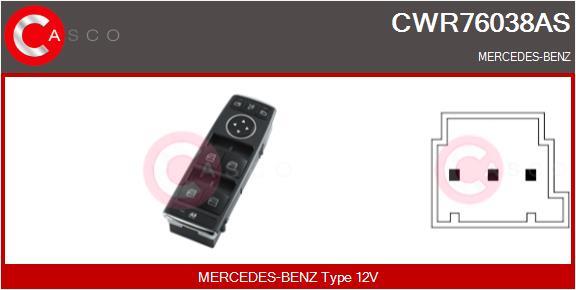 Interrupteur, leve-vitre CASCO CWR76038AS (X1)