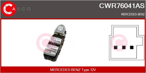Interrupteur, leve-vitre CASCO CWR76041AS (X1)
