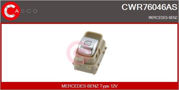 Interrupteur, leve-vitre CASCO CWR76046AS (X1)