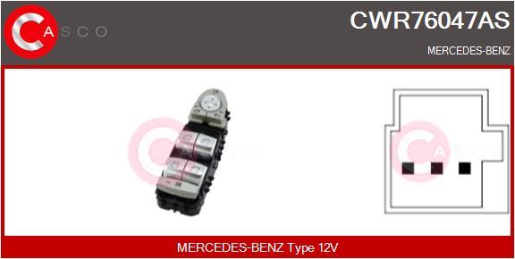 Interrupteur, leve-vitre CASCO CWR76047AS (X1)